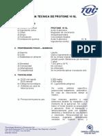 FICHA TECNICA DE PROTONE 10 SL TQC