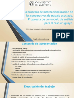 Presentación - TFM Daniel Egger sobre internacionalización cooperativas uruguayas