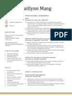 resume - mang