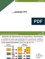 Propiedades de  los fluidos petroleros y factores volumetricos