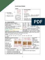 Categorical & Linear Models