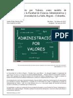 1.3 EL MODELO DE ADMINISTRACIÓN POR VALORES