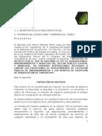 Iniciativa de Reforma Ley de Adquisiciones