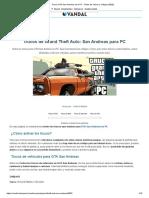 Trucos GTA San Andreas para PC - Todas las claves y códigos (2020)