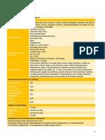 Ficha técnica de salchichas