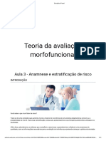 TEORIA DA AVALIAÇÃO MORFOFUNCIONAL