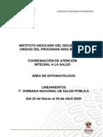 Lineamientos 1a. JNSP 2020