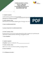 PREGUNTAS DE DIAGNOSTICO DE EDUCACION FISICA sin resuesta 1er quimestre