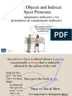 Capítulo 8 Gramática 2 - Indirect objects and their pronouns (prepositional pronouns)