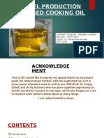 BIODIESEL PRODUCTION WASTE VEGETABLE OIL(1)