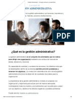 Gestión Administrativa - Concepto, funciones y características