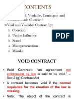 Lecture 3 - Void & Voidable Contract