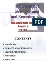 Lecture 4 - Breach of Contract and Remedies