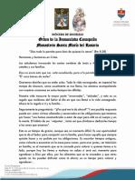 Mensaje de las hermanas concepcionistas-26/03/2020