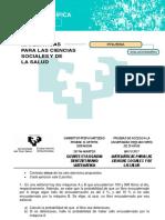 MATEMÁTICAS PARA LAS CIENCIAS SOCIALES Y DE LA SALUD
