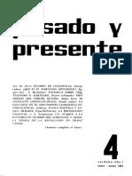 Pasado y Presente, Primera Época, Nº 4, 1964