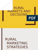 Rural markets and decisions
