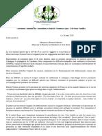 Lettre ouverte au Premier ministre de la Fédération Nationale des Associations et Amis de Personnes Âgées Et de leurs Familles