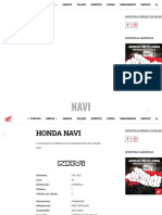 Honda Navi 2020 - Ficha Técnica