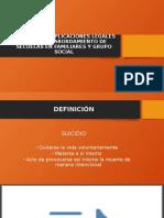 EL SUICIDIO, IMPLICACIONES LEGALES Y PENALES,