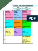 B74 - Off Campus Assignment Schedule - Post C1