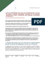Responsabilité Pénale de l'Employeur - CPME