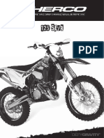 Sherco Owners Manual 2019 125-SE-R
