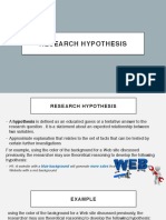 Research Hypothesis & Types