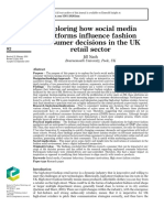 Exploring how social media platforms influence fashion consumer decisions in the UK retail sector