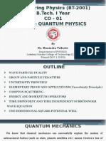 CO - 1 Quantum Mechanics