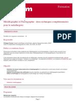 metallographie et fractographie deux techniques complementaires pour le metallurgiste