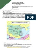 Evolutia sistemului administrativ-teritorial