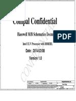 HP 15-R157 COMPAL LA-A992P (ZS050) Rev 1.0 Schematics