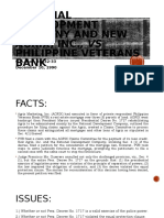 22. NATIONAL DEVELOPMENT COMPANY AND NEW AGRIX, INC., vs PHILIPPINE VETERANS BANK