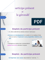 Participe Present Et Gerondif