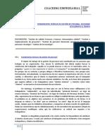 FUNDAMENTOS TEÓRICOS DE GESTIÓN DE PERSONAL. GESTIONAR EFICAZMENTE EL TIEMPO