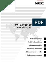 PX-42VR5W User Manual