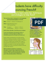 French Pronunciation Workshop