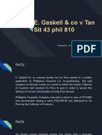 Specpro Report Evangelista E. Gaskell & co v Tan Sit 43 phil 810