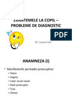 EXANTEMELE LA COPIL – PROBLEME DE DIAGNOSTIC