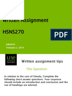 Writinge tips - hsns270