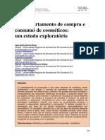 O comportamento de compra e consumo de cosméticos