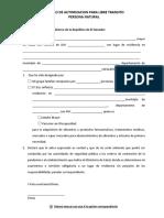 Modelos de Cartas Persona Natural, Libre Mobilidad