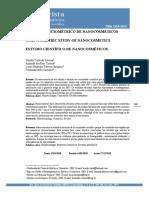 ESTUDO CIENCIOMÉTRICO DE NANOCOSMÉTICOS SCIENTOMETRIC STUDY OF NANOCOSMETICS ESTUDIO CIENTÍFICO DE NANOCOSMÉTICOS