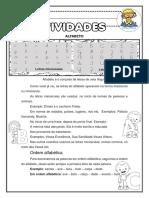 ALFABETO ORDEM ALFABETICA ADIVINHAS