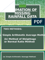 Estimation of Missing Rainfall Data_Conversion of Point to Aerial Rainfall