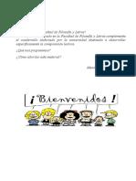 cuadernillo 2013 Facultad de Filosofía y Letras