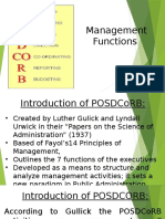 Management Process - POSDCORB
