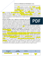 ELECTROMUEBLES S.A.S DOCUMENTO DE COSTITUCION