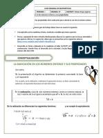 Matemáticas 7° Periodo 01 Semana 8